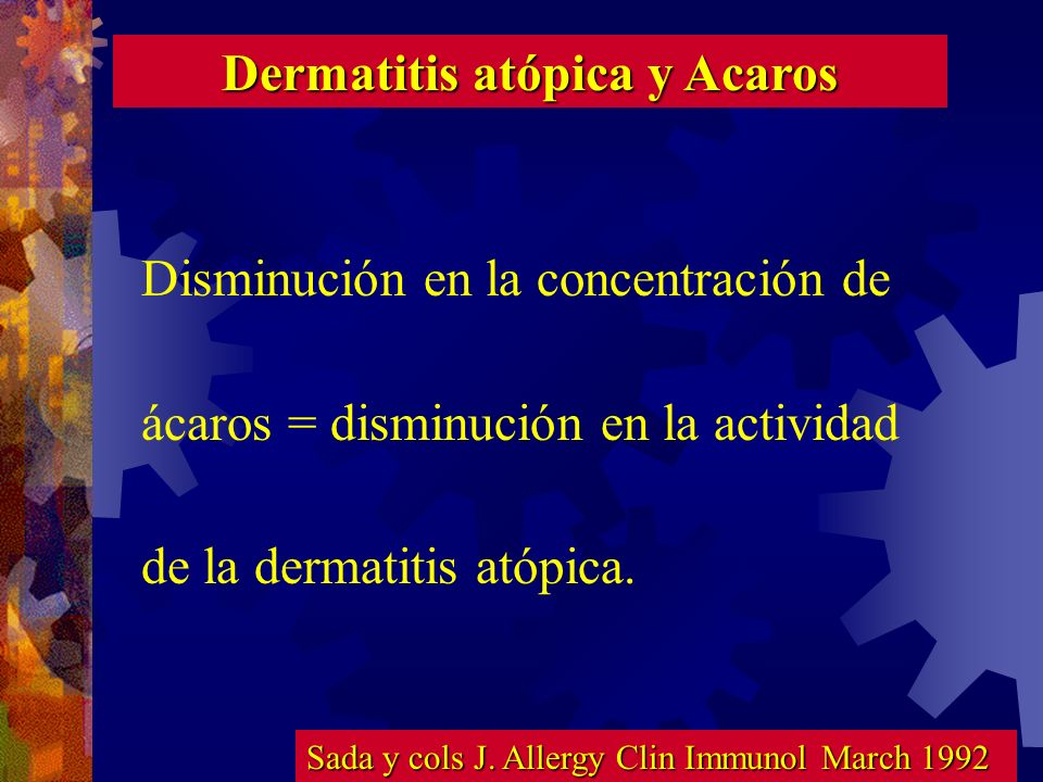 Dermatitis atópica y Acaros