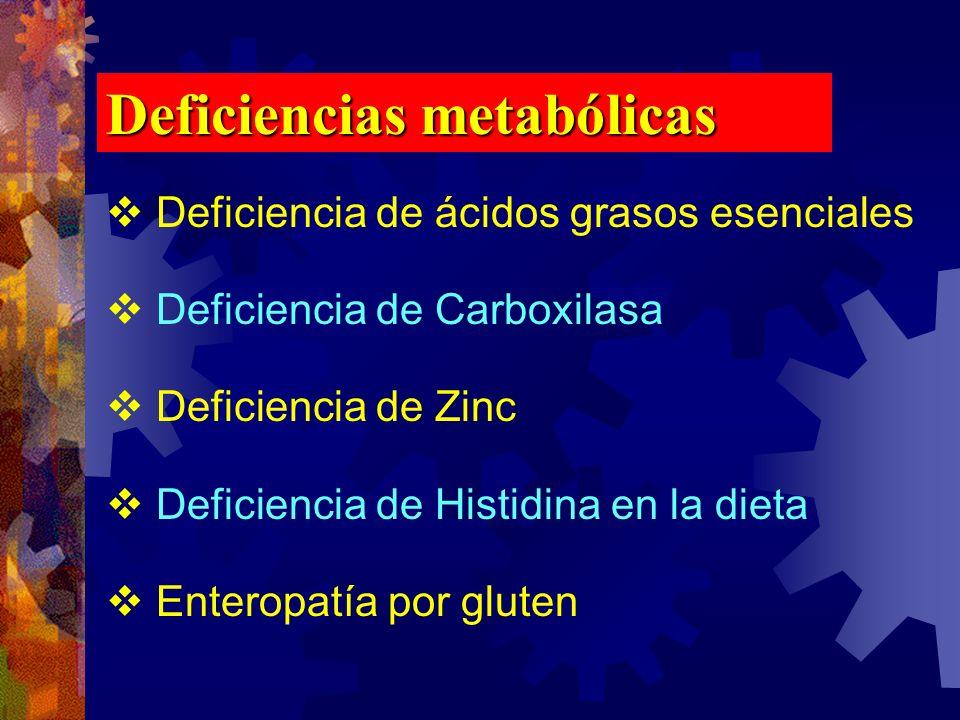 Deficiencias metabólicas