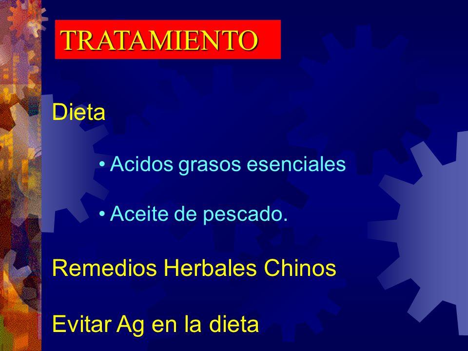 TRATAMIENTO Dieta Remedios Herbales Chinos Evitar Ag en la dieta