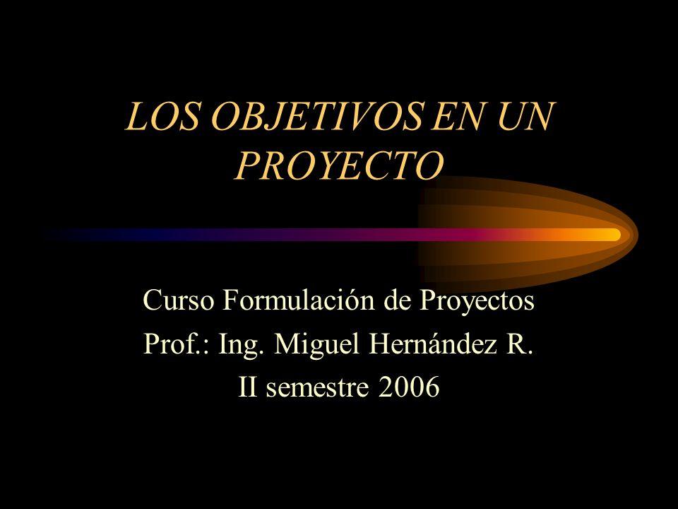 LOS OBJETIVOS EN UN PROYECTO