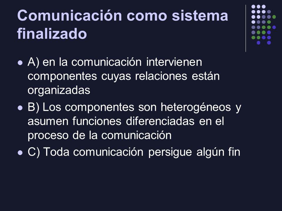 Comunicación como sistema finalizado