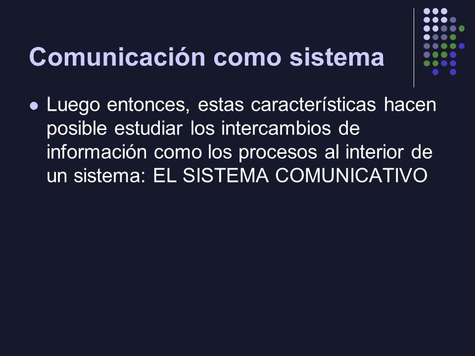 Comunicación como sistema
