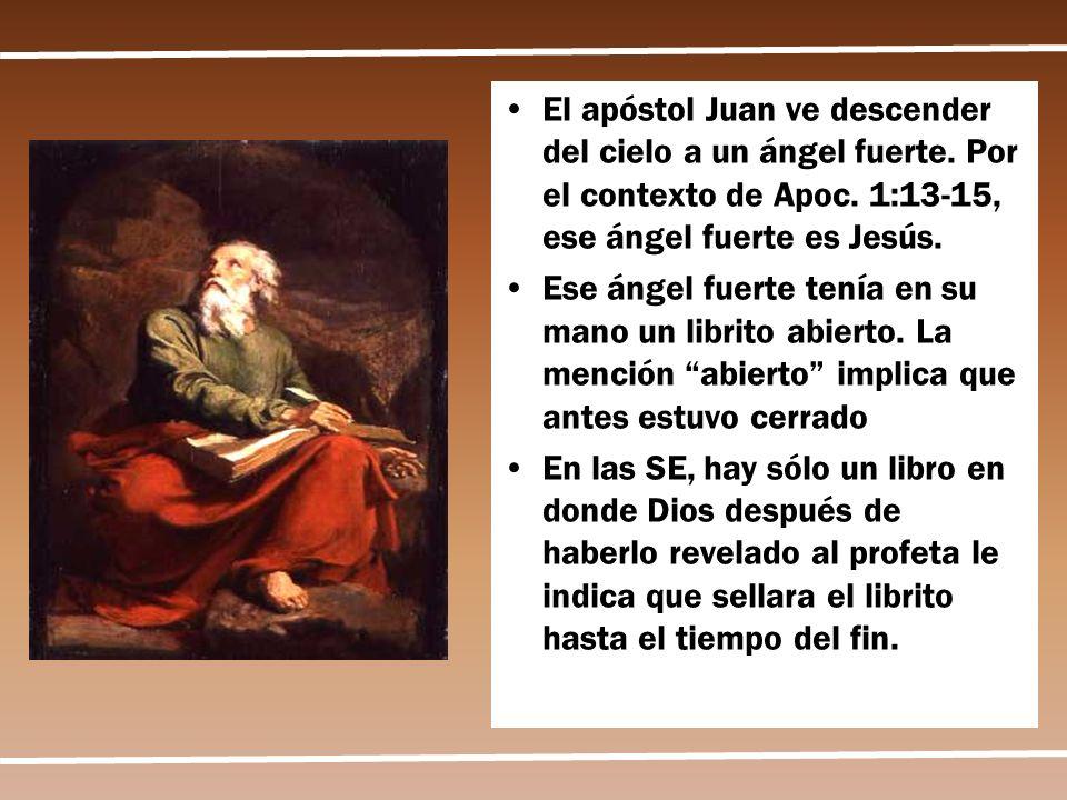 El apóstol Juan ve descender del cielo a un ángel fuerte