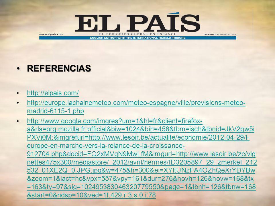 REFERENCIAS http://elpais.com/
