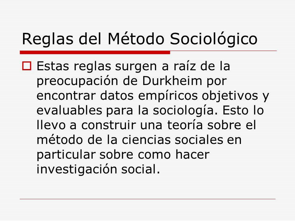 Reglas del Método Sociológico