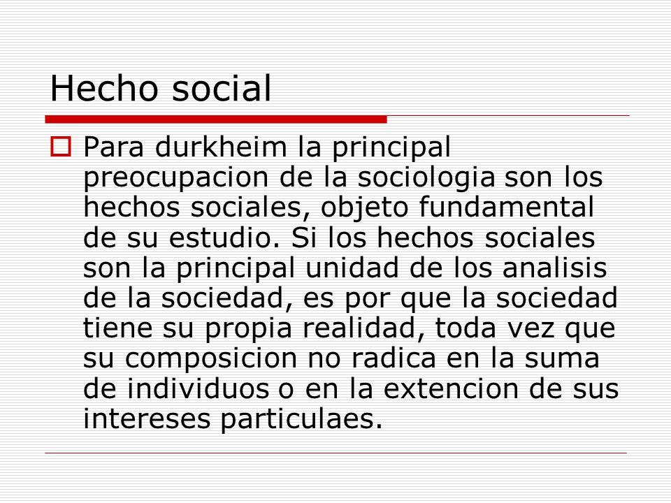 Hecho social
