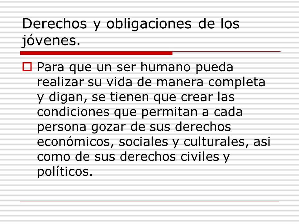 Derechos y obligaciones de los jóvenes.