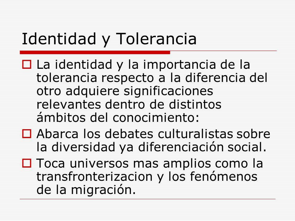 Identidad y Tolerancia