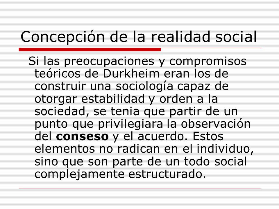 Concepción de la realidad social