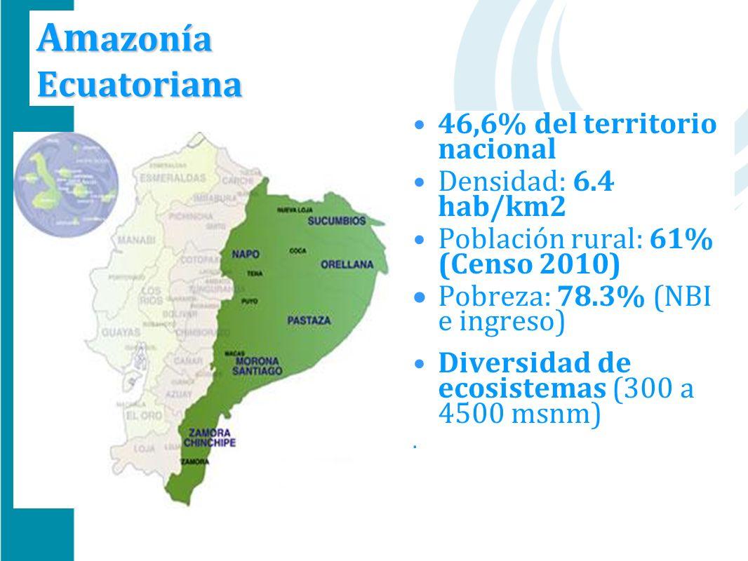 Amazonía Ecuatoriana 46,6% del territorio nacional