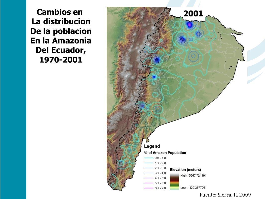 Cambios en La distribucion De la poblacion En la Amazonia Del Ecuador,