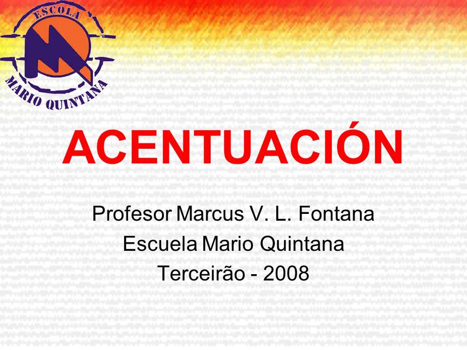Profesor Marcus V. L. Fontana Escuela Mario Quintana Terceirão - 2008