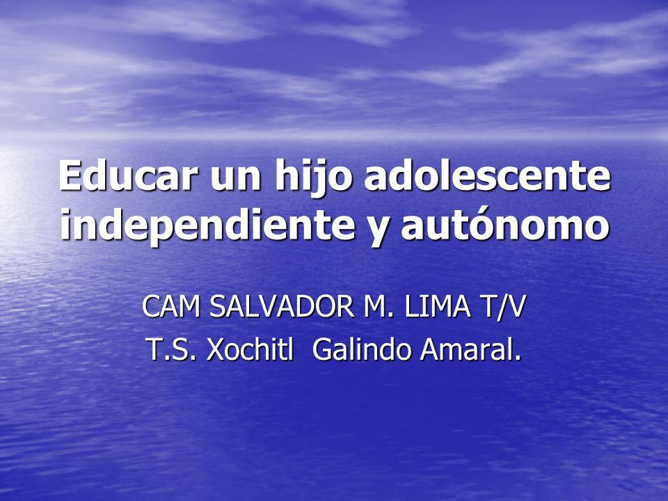 Educar un hijo adolescente independiente y autónomo