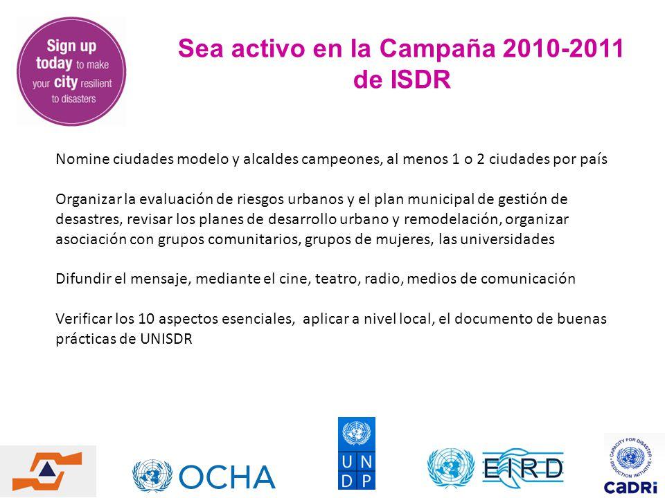 Sea activo en la Campaña 2010-2011 de ISDR