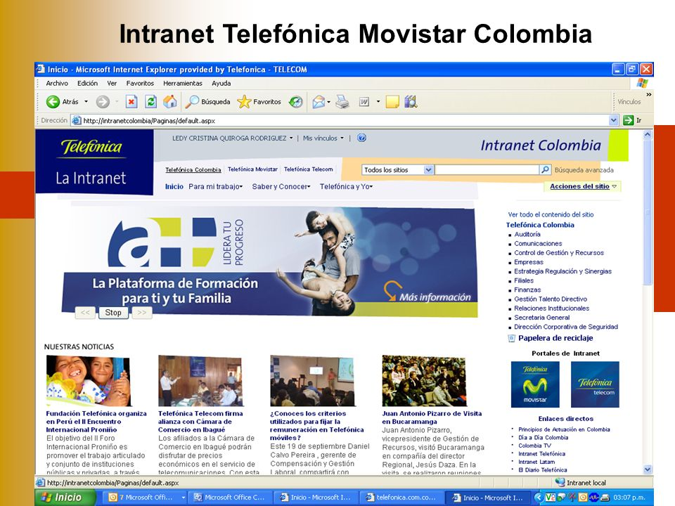 Intranet Telefónica Movistar Colombia
