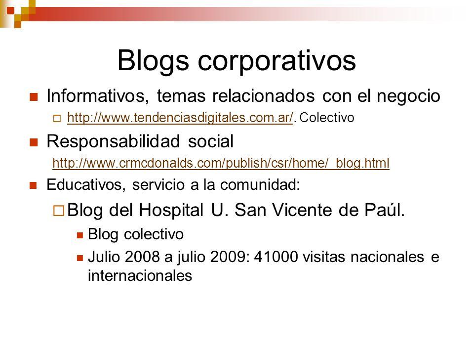 Blogs corporativos Informativos, temas relacionados con el negocio