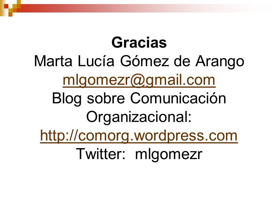 Gracias Marta Lucía Gómez de Arango mlgomezr@gmail
