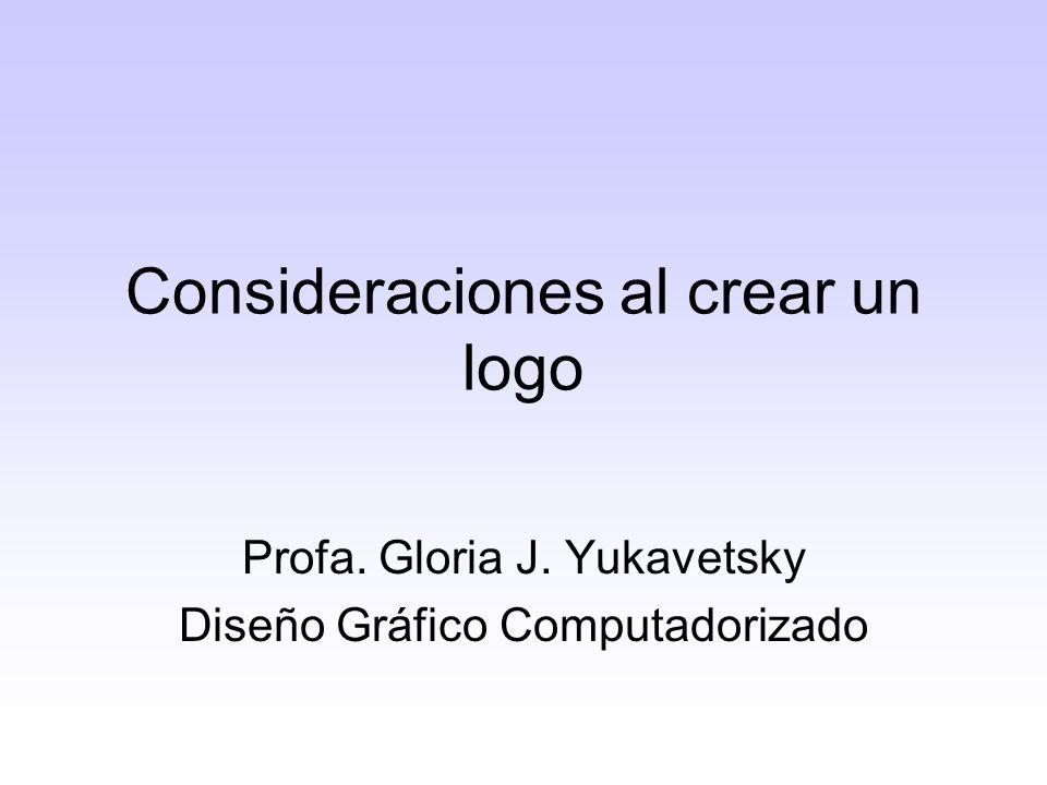 Consideraciones al crear un logo