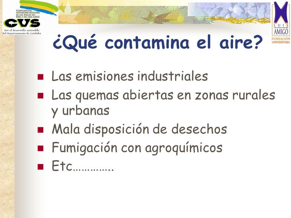 ¿Qué contamina el aire Las emisiones industriales
