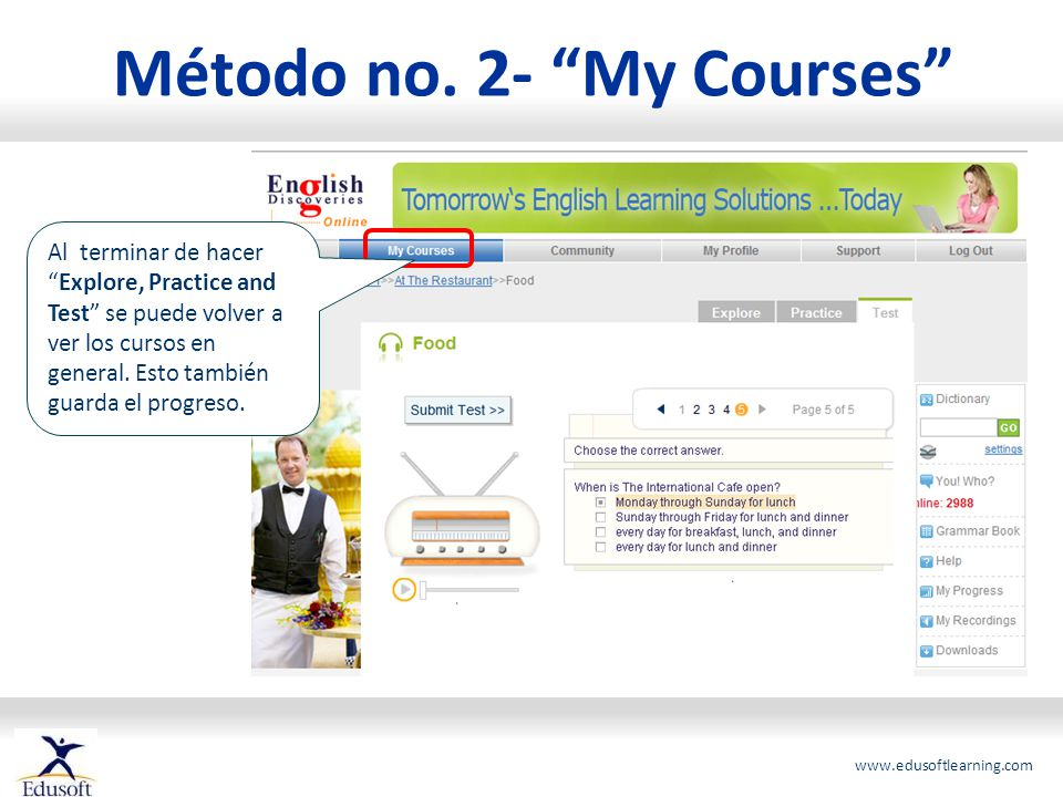 Método no. 2- My Courses