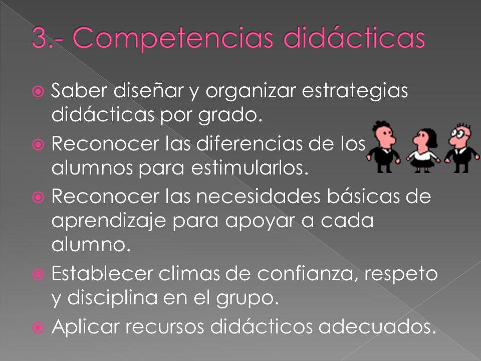 3.- Competencias didácticas
