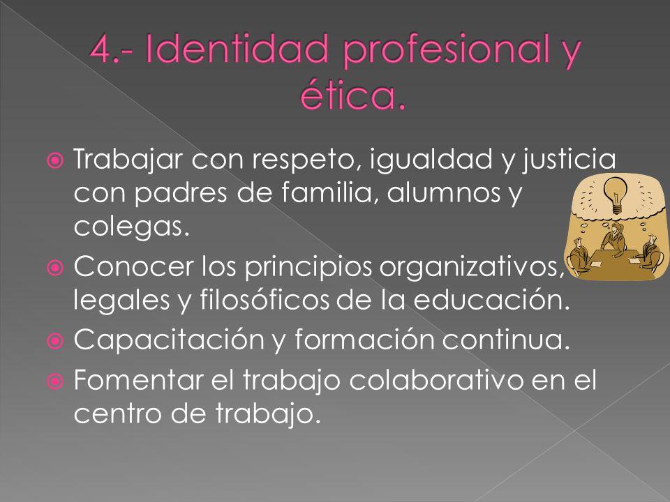 4.- Identidad profesional y ética.