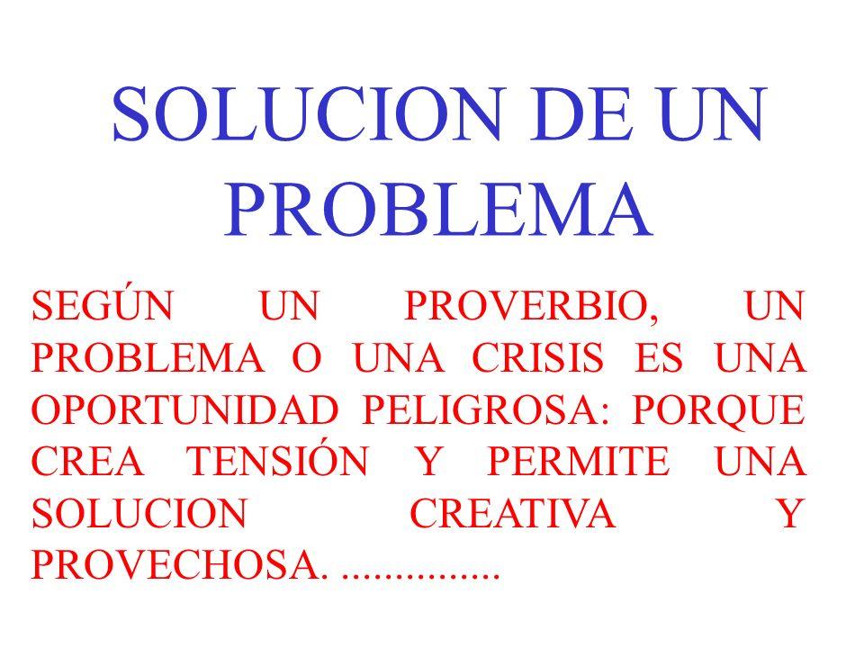 SOLUCION DE UN PROBLEMA