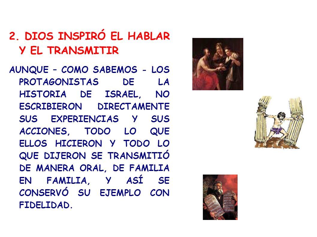 2. DIOS INSPIRÓ EL HABLAR Y EL TRANSMITIR