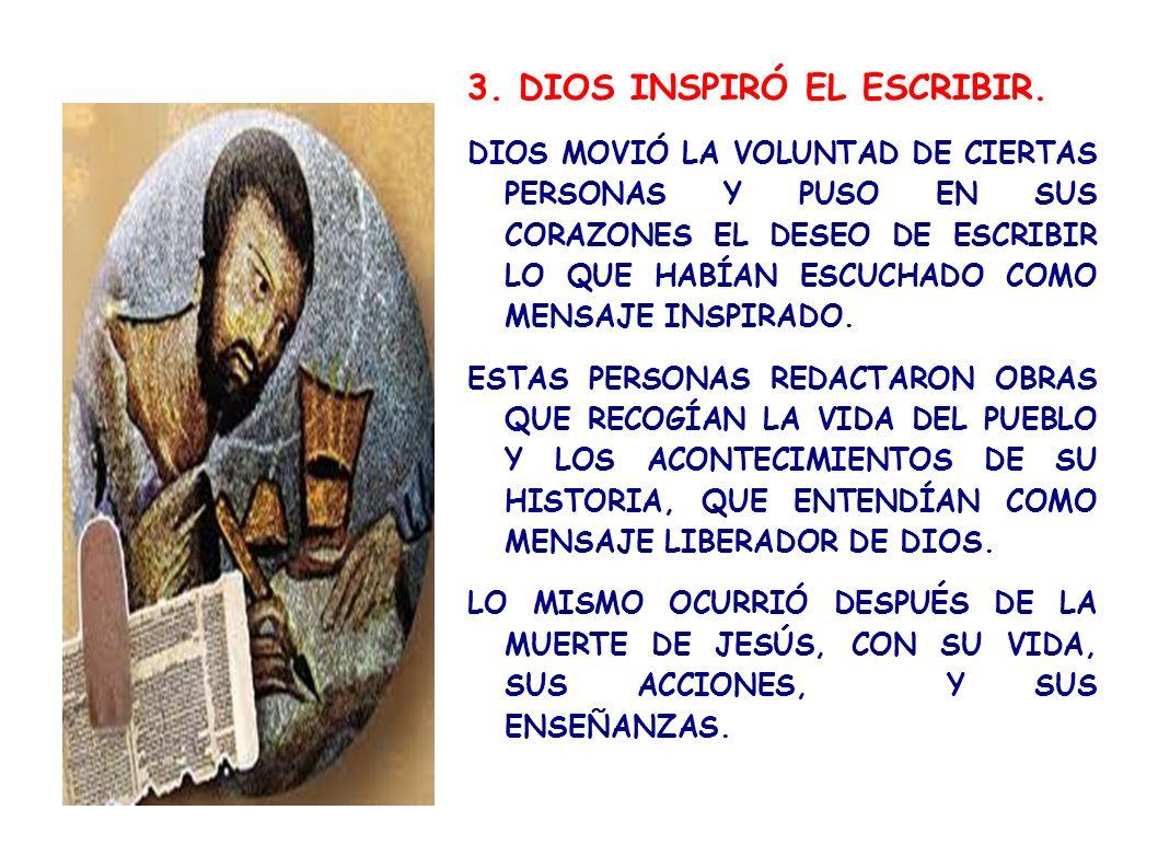 3. DIOS INSPIRÓ EL ESCRIBIR.