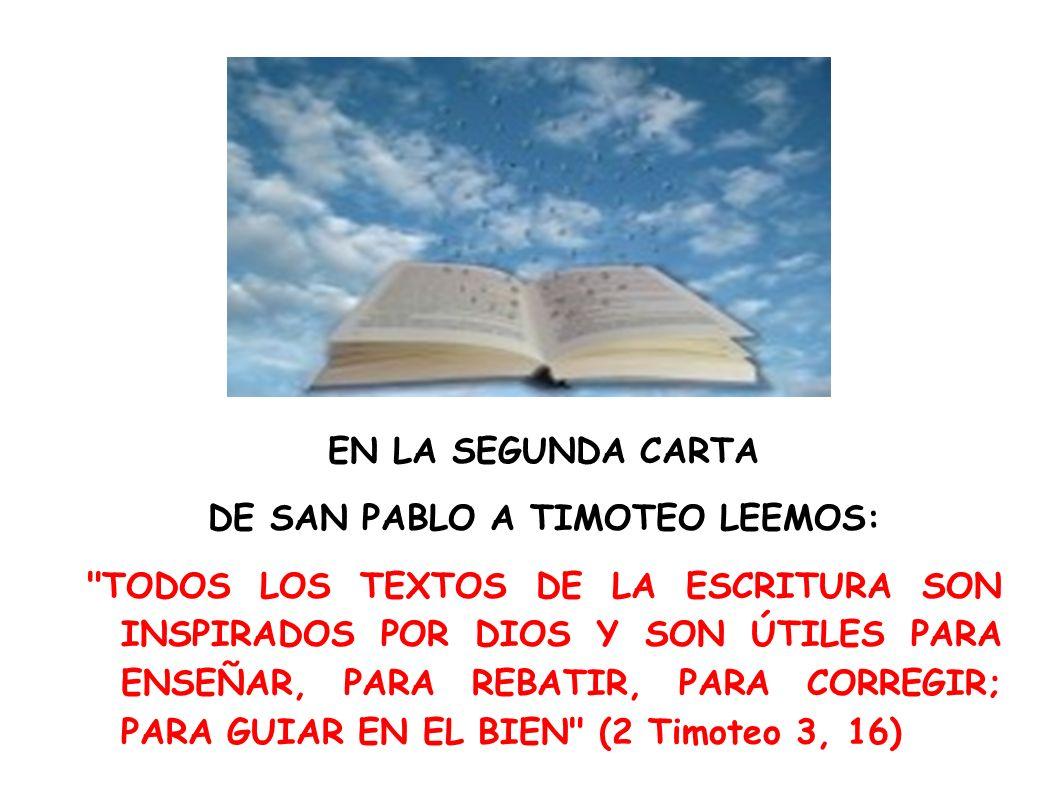 DE SAN PABLO A TIMOTEO LEEMOS: