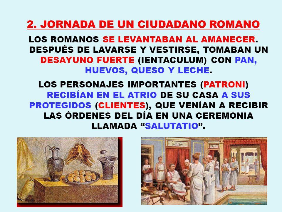 2. JORNADA DE UN CIUDADANO ROMANO