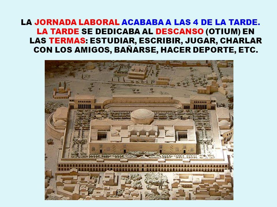 LA JORNADA LABORAL ACABABA A LAS 4 DE LA TARDE