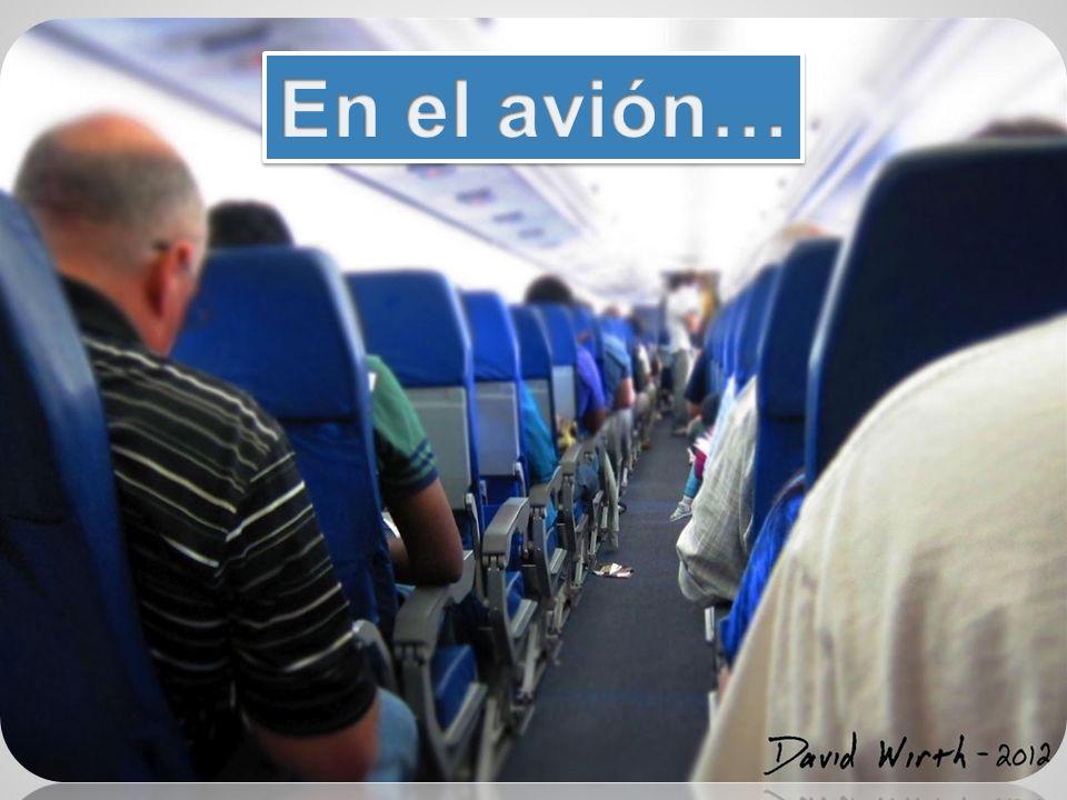 En el avión…