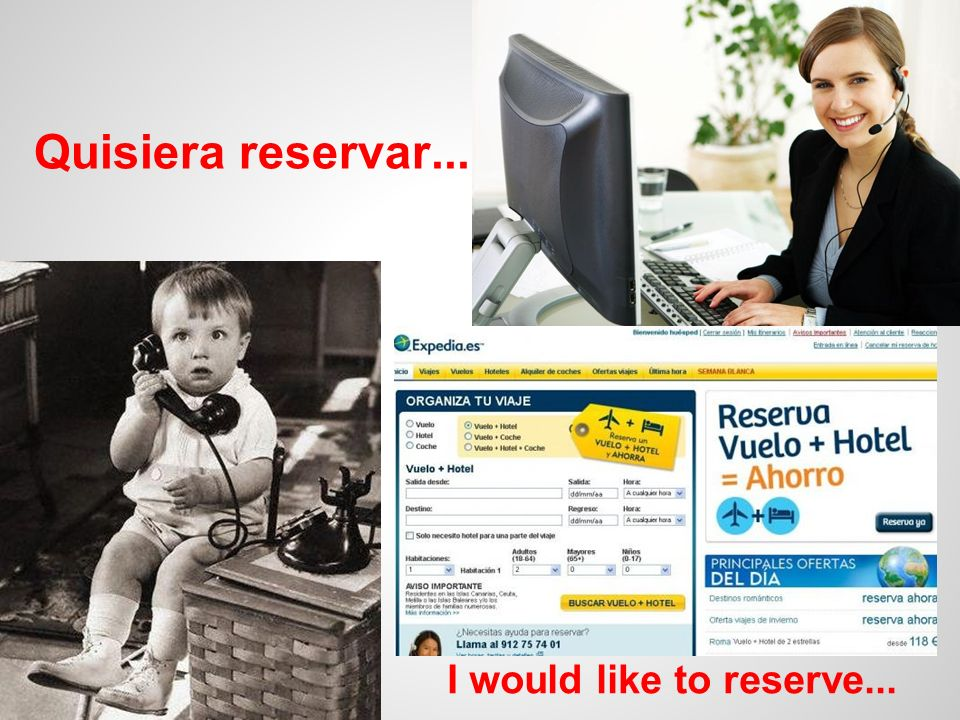 Quisiera reservar... I would like to reserve...