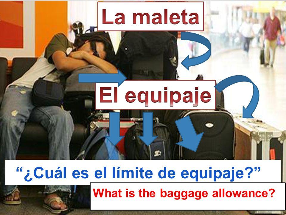 ¿Cuál es el límite de equipaje