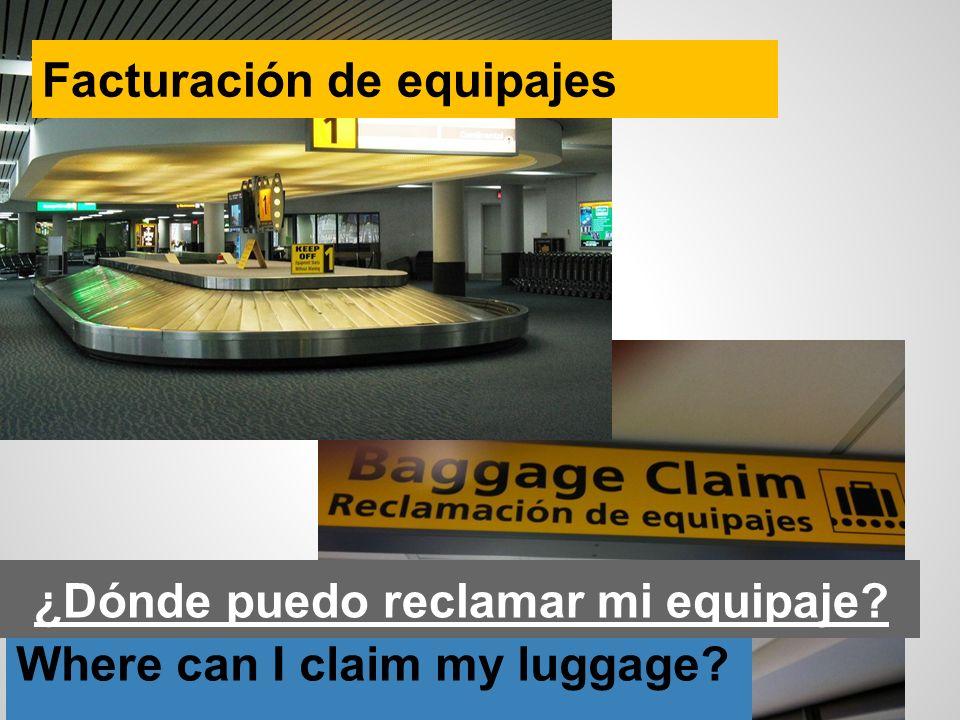 ¿Dónde puedo reclamar mi equipaje