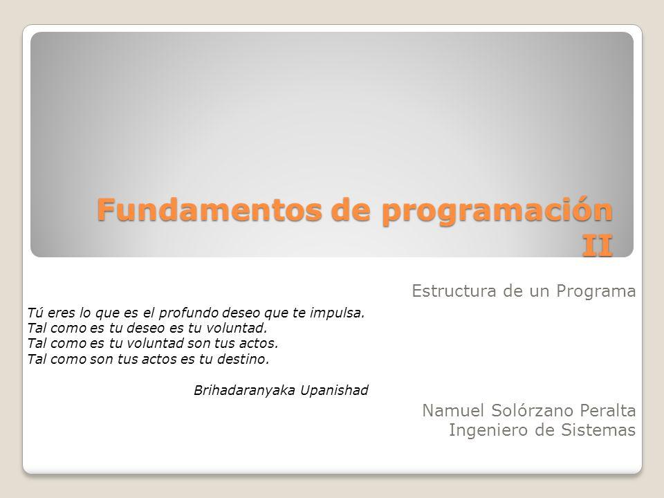 Fundamentos de programación II