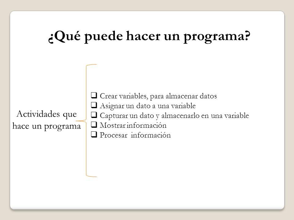 ¿Qué puede hacer un programa