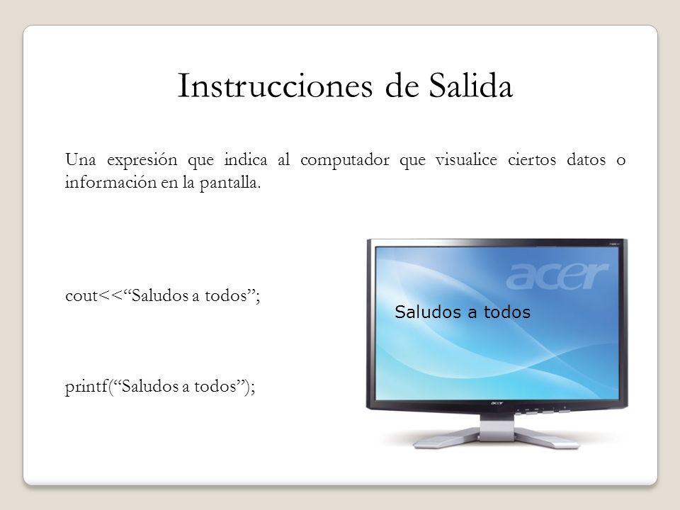 Instrucciones de Salida