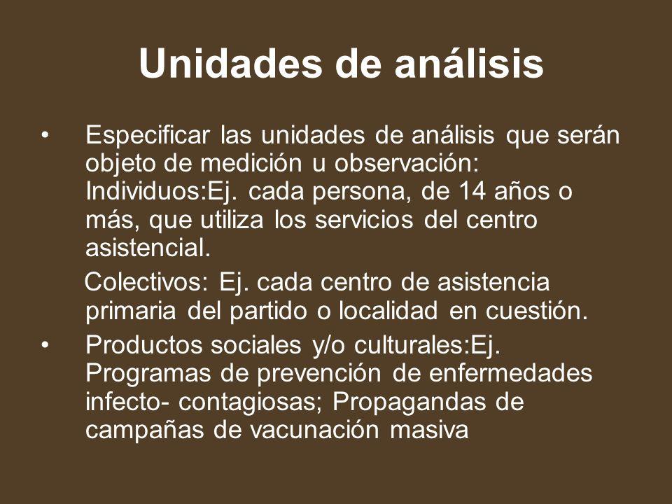 Unidades de análisis