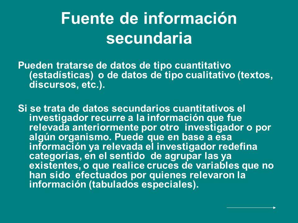 Fuente de información secundaria