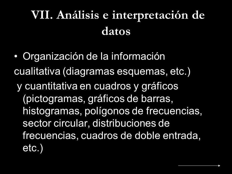 VII. Análisis e interpretación de datos