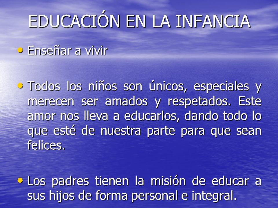 EDUCACIÓN EN LA INFANCIA