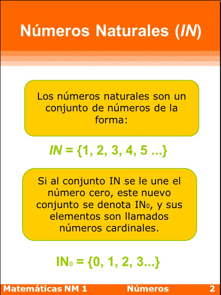 Números Naturales (IN)