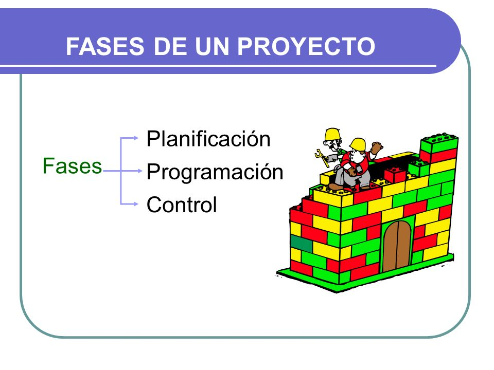 FASES DE UN PROYECTO Planificación Fases Programación Control