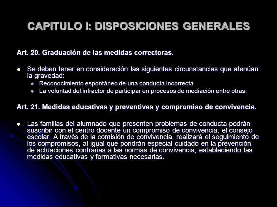 CAPITULO I: DISPOSICIONES GENERALES