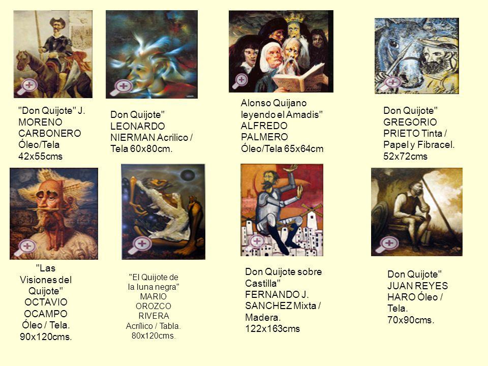 Las Visiones del Quijote OCTAVIO OCAMPO Óleo / Tela. 90x120cms.