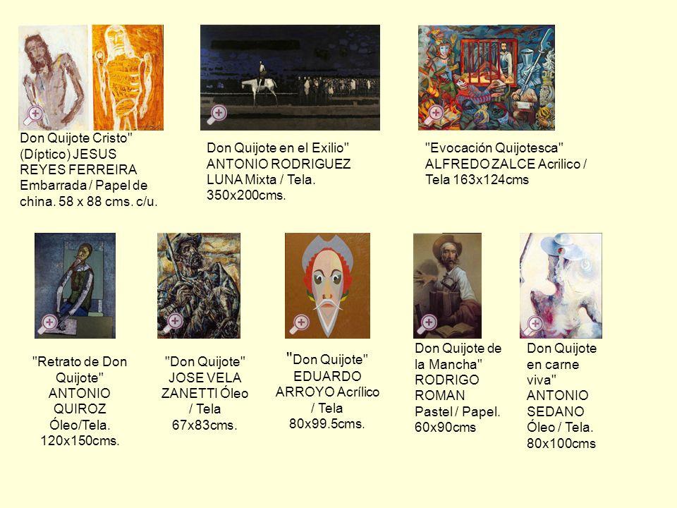 Don Quijote EDUARDO ARROYO Acrílico / Tela 80x99.5cms.