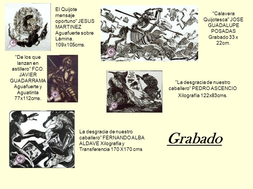 Calavera Quijotesca JOSE GUADALUPE POSADAS Grabado 33 x 22cm.