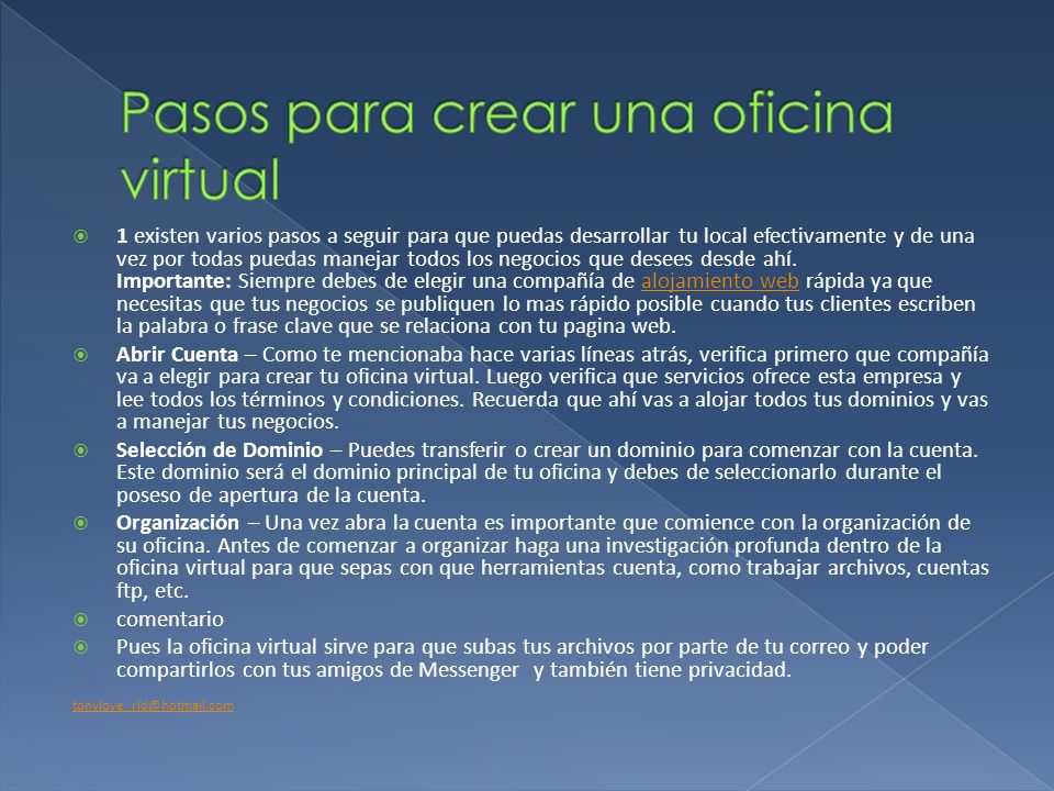 Como se crea una oficina virtual un blog y una wiki ppt for Oficina virtual coordinacion haciendas locales